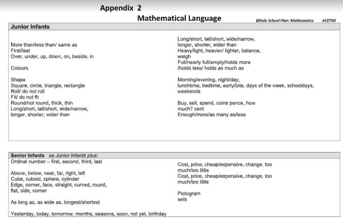 Maths- Appendix 2